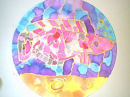 themed paintings lesson plan fish themed silk painting