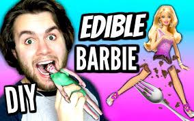 diy edible barbie doll eat barbies eatable chocolate barbie