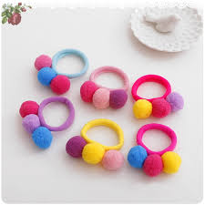 hair holders 3 balls elastics hair holders bands gum fashion kids candy