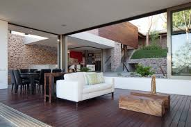 Interior Of A Home by Indoor Outdoor Home Design Multi Level Garden House In El Salvador