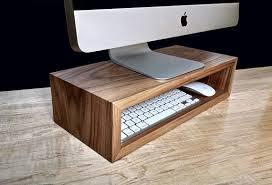 Upright Desk Organizer Walnut Monitor Stand Desk Organizer Computer Riser