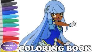 lolirock talia coloring book page lolirock talia coloring page
