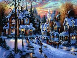 snow village halloween christmas villages u2013 happy holidays