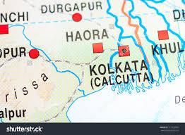 Calcutta India Map by Map View Calcutta India Stock Photo 317335904 Shutterstock