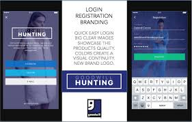 design concept fashion mobile app black rhino design