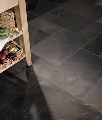 Topps Tiles Laminate Flooring Rustic Black Slate Modular Uncalibrated Tile Topps Tiles