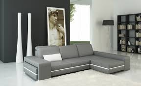White Leather Couch Living Room Divani Casa 5070b Modern Grey And White Leather Sectional Sofa