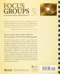 focus groups a practical guide for applied research amazon co uk