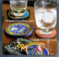 Unique Drink Coasters Military Police U0026 Fire Gift Ideas Coasters Patch Monkey