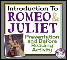 Romeo And Juliet Introduction Presentation Activity Background Romeo And Juliet Powerpoint Template