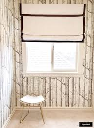 Roman Shades Black Out And Sheer Roman Shade In White Linen With Samuel And Sons Black 1 5 Inches