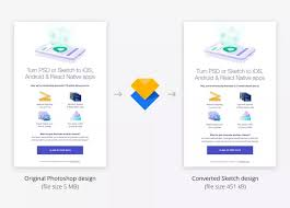 how to convert a layered photoshop file to a sketch file updated