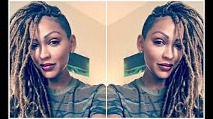 best hair for faux locs meagan good gets blonde faux locs for fall youtube