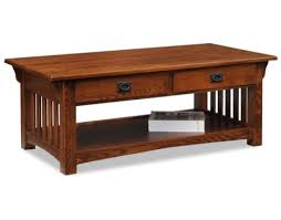 Two Drawer Coffee Table Mission Two Drawer Coffee Table By Leick Furniture Lucas