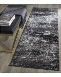 2 X 12 Runner Rug Sale Safavieh Adirondack Modern Abstract Silver Black