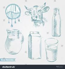 hand drawn set cow milk products stock vector 593560340 shutterstock