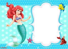 updated free printable ariel mermaid invitation