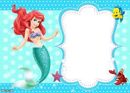Halloween Invitation Templates Free Printable by Updated Free Printable Ariel The Little Mermaid Invitation