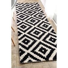Overstock Com Rugs Runners Nuloom Handmade Abstract Pixel Trellis Black Off White Wool