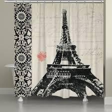 Eiffel Tower Bedroom Curtains Eiffel Tower Shower Curtain U2013 Laural Home