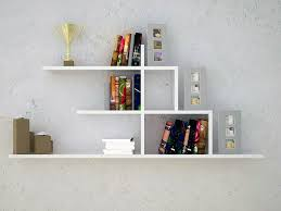 Modern White Bookshelves by Wall Mounted Shelves Conceal Floating Wall Mounted Shelf La