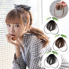 clip in bangs hair clip in bangs false hair hair extension on front