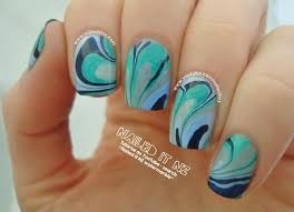 water marble nail art tutorial essie nail polish