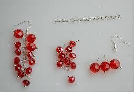 make dangle earrings earring ideas make dangle earrings with cherry strand