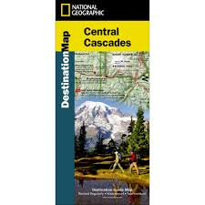 Eatonville Washington Map by Central Cascades Destination Map National Geographic Store