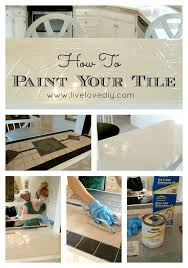 Can You Paint Over Bathroom Tile Yes You Really Can Paint Tiles Rust Oleum Tile Transformations