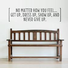 Quotes About Home Decor Never Give Up Wall Quote Decal