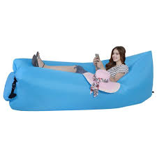 Inflatable Sofa Outdoor Inflatable Lounger Hammock Portable Air Couch Air Filled