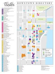 Florida City Map The City Of Titusville Florida Downtown Business Map
