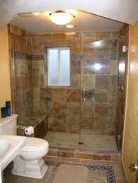 Bathroom Remodeling Ideas For Small Bathrooms Half Wall With Shower Door Maybe Do A Higher Wall With Curtain
