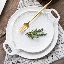 assiette de porcelaine achetez en gros blanc porcelaine plaque en ligne à des grossistes
