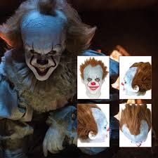 it clown halloween mask pennywise it clown 2017 real life mask stephen king u0027s fancy