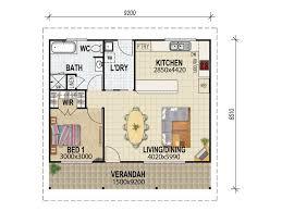 Floor Plan Granny Flat House Plans Queensland Granny Flat Plans One Bdrm Floor Plan