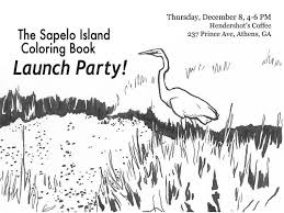sapelo island coloring book launch party hendershots