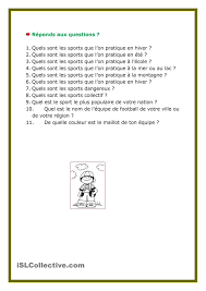 24 best les sports images on pinterest sleep french worksheets