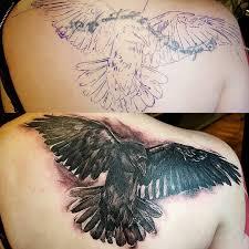 raven cover up by gabe alverez at metro tattoo tucson az