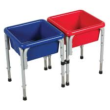 tall sand and water table two station square sand water table with lids