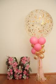 Pink And Gold Baby Shower Decorations by 1st Birthday Floral Letter Balloons Pink And Gold Millar U0027s