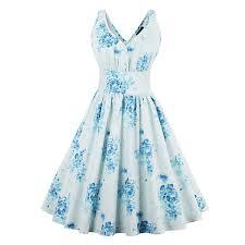 light blue sleeveless dress sisjuly women summer light blue dress women clothes strapless cotton