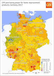 Bavaria Germany Map by Map Of The Month Purchasing Power For Home Improvement Products