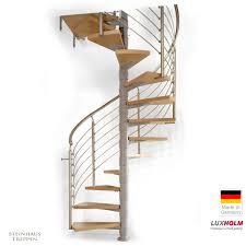 arke treppen wendeltreppe luxholm rondo mit holzstufen 140 cm steinhaus