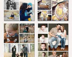 instant download collage wedding family blog board