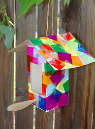milk birdhouse bird feeder craft happiness is