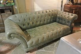 vintage leather chesterfield sofa vintage sage green leather chesterfield sofa home alchemy