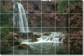 waterfalls image murals room wall dining renovations modern home