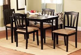 5 piece table and chair set 5 piece dining set wood breakfast furniture 4 chairs and table